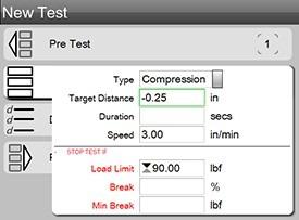 force Testing settings menu